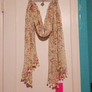 Betsey Johnson Pom pom scarf